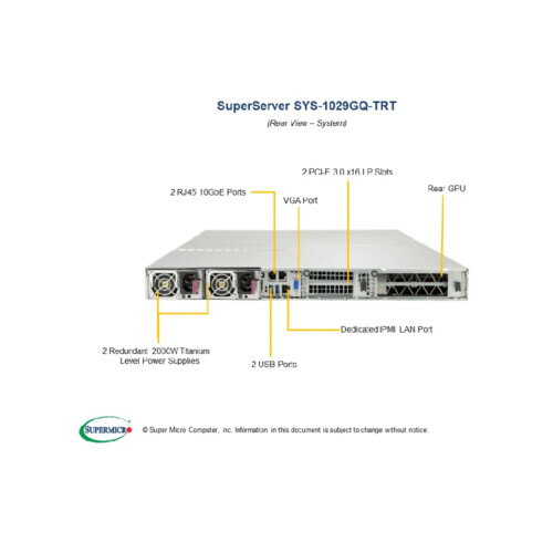 SYS-1029GQ-TRT | Supermicro GPU Server
