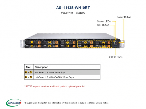 AS -1113S-WN10RT A+ Server