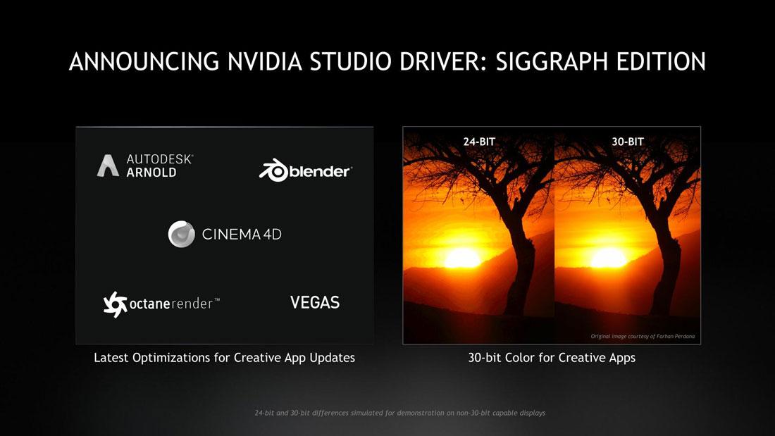 NVIDIA 30-bit color SIGGRAPH